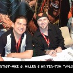 San Diego Comic Con 2010 - Wildstorm Booth - artist Mike Miller & writer Tom Taylor